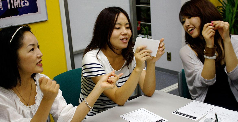 日本にいながら海外の英語学校にいるような授業