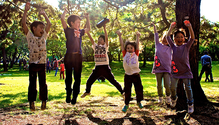 子供の英語イベントを浜寺公園で