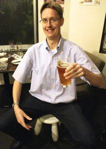 英語講師が梅田の地ビールのお店で生徒さんとトーク