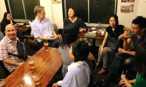 I梅田の地ビールのお店で英語で会話
