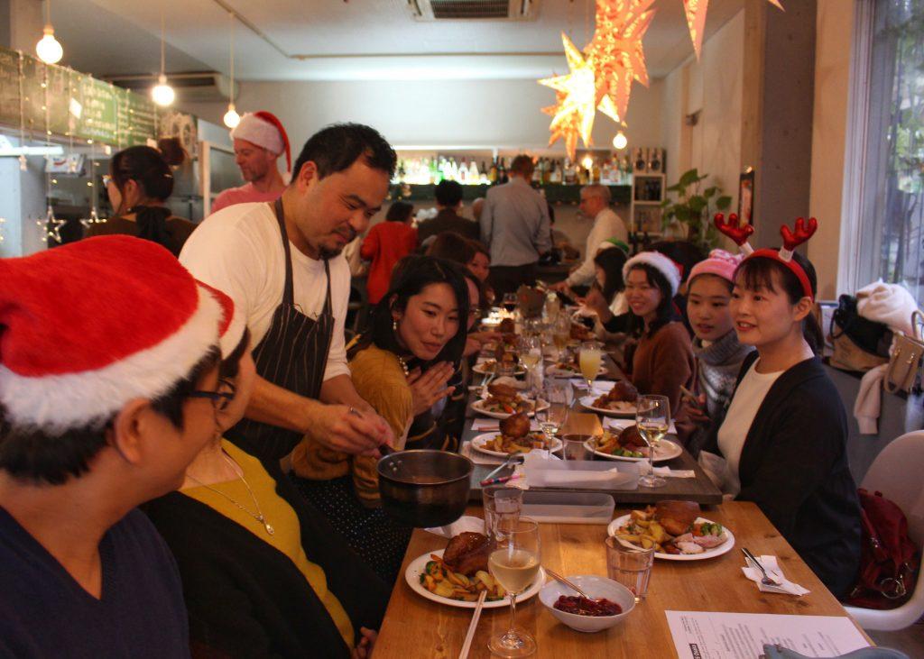 サンデーロースト クリスマス UKPLUS Osaka イギリス英語学校