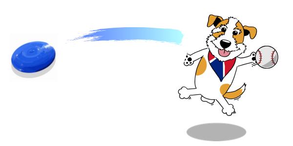 フリスビー ボール 犬 イラスト
