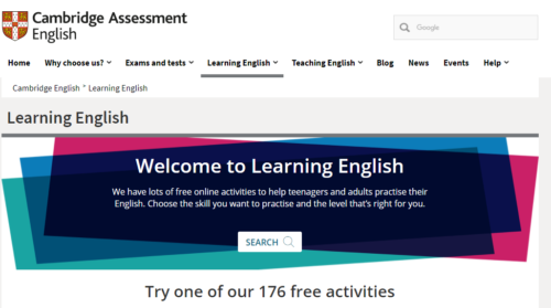 Cambridge English 英語 オンライン 学習