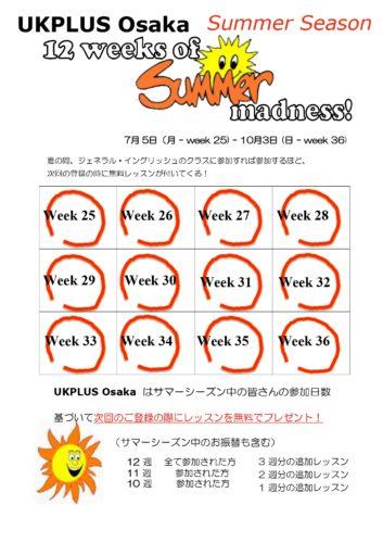 英語スクール キャンペーン サマー 大阪 UKPLUS Osaka 2021
